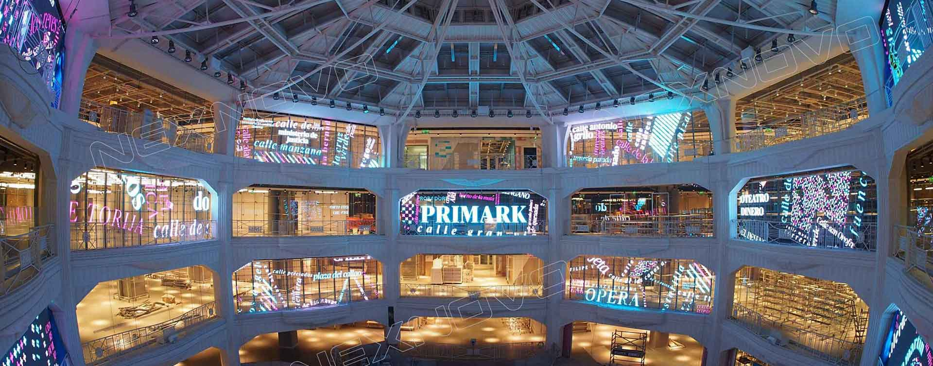 Public places - transparent led screen, led screen, fully stealth
