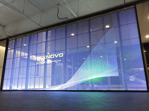 NEXNOVO transparent indoor LED display for OneBank