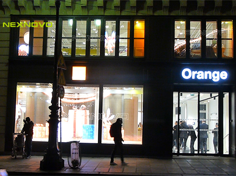 Orange Flagship store amazes customers with NEXNOVO transparent LED wall