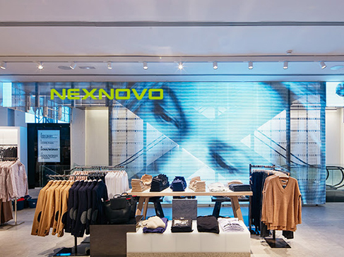 MANGO brand store transparent LED display