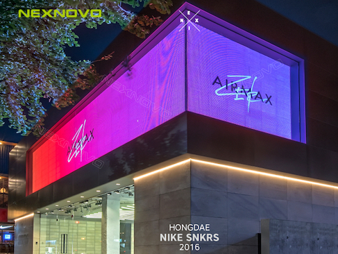 Digital wall for NIKE flagship store in Korea