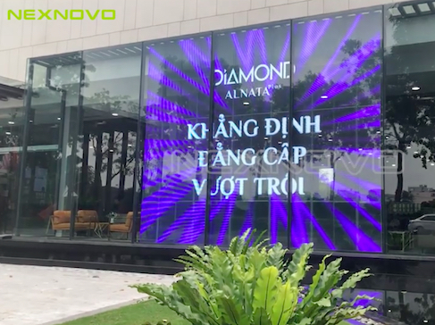 High transparency LED media window _ Vietnam Gamuda Land