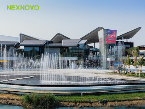 NEXNOVO glass LED display | Landmarks show of Sanya International Duty-Free City