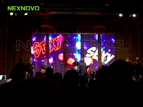 German Band _ Weitersagen with NEXNOVO's transparent LED screen