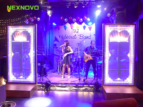 NEXNOVO Transparent LED display performs with Vietnamese Hideout Band
