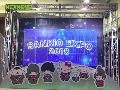 Transparent LED display for SANRIO EXPO 2018 in Japan
