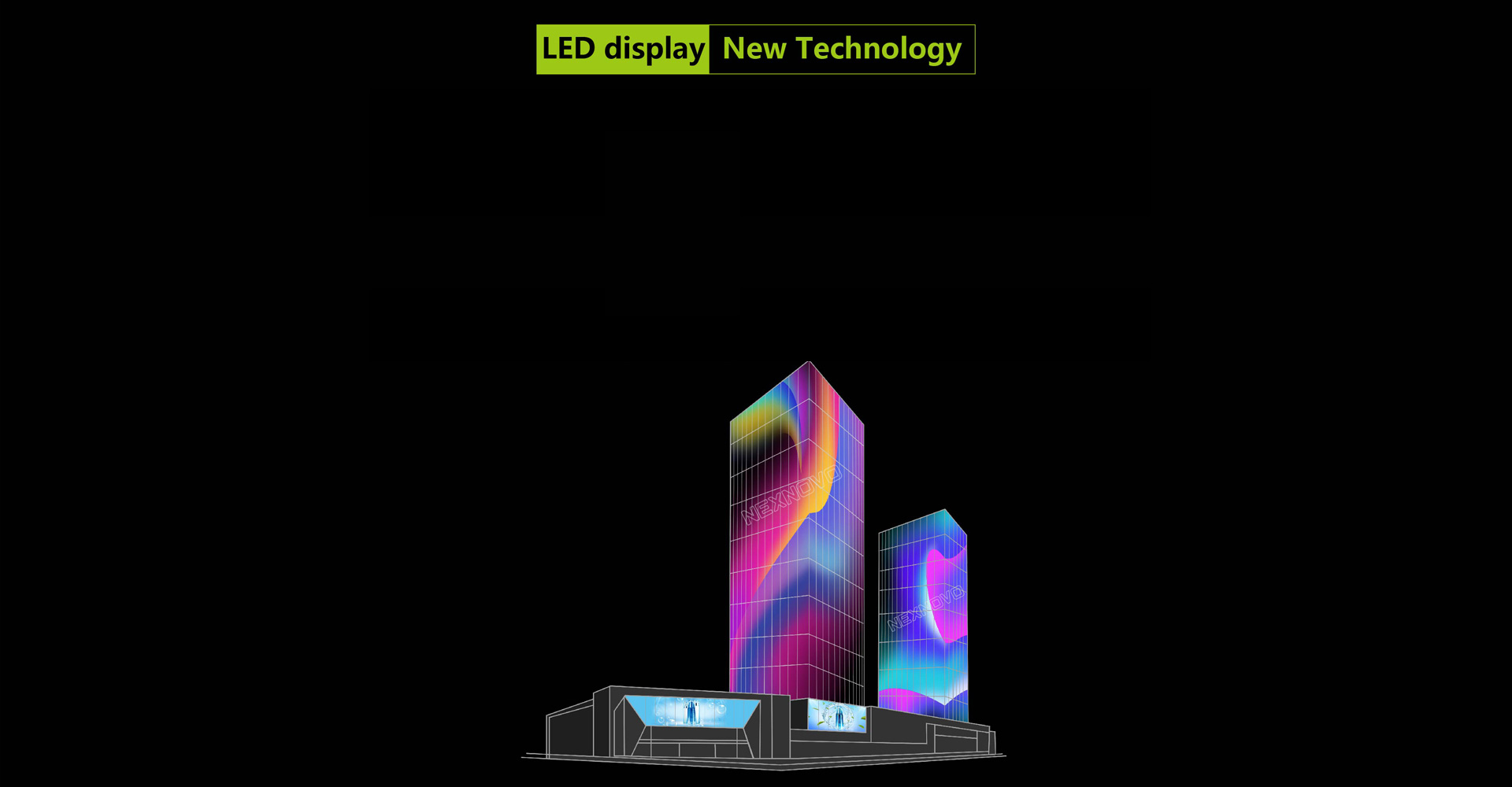 LED photoelectric glass screen4